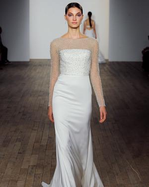 Silk Column Wedding Dress