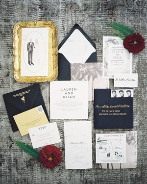 Fall Wedding Invitations from Real Weddings