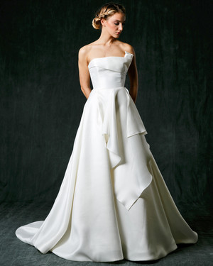 Jackie O Style Wedding Dress 29 Vintage Sareh Nouri Fall Wedding