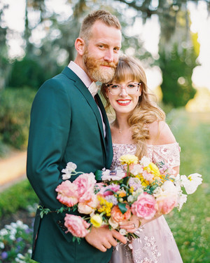 There Were Just Five Guests at This Couple's Colorful Wedding in Charleston