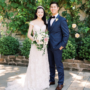 letitia justin wedding couple