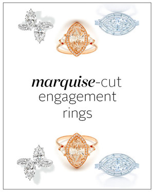 Marquise-Cut Diamond Engagement Rings