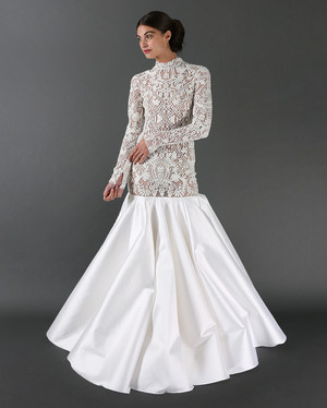 Jackie O Style Wedding Dress 47 Fabulous Randi Rahm Fall Wedding
