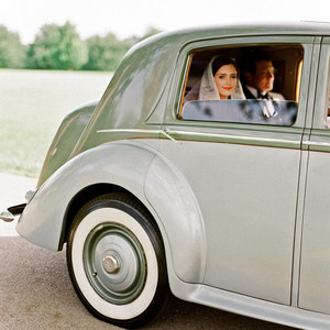 green wedding ideas leslee mitchell car