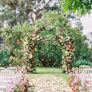 jamie and michael wedding ceremony arch