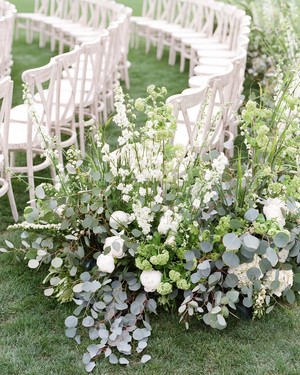 Beautiful Ways to Style the Last Row of Chairs at Your Wedding Ceremony