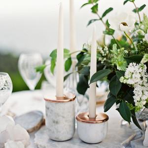 marble wedding ideas centerpiece