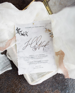 20 Marbled Invitations Fit for a Modern Wedding