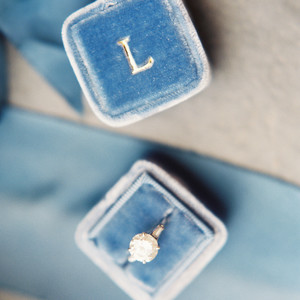 ring with blue ring box