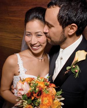 A Romantic Brown Restaurant Wedding in New York City