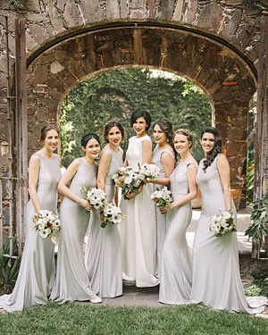 Gray and Silver Bridesmaids' Dresses Any Wedding Party Will Love