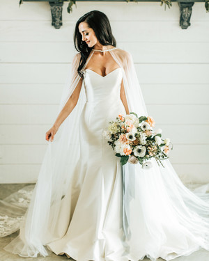 A Fashion Trend We're Loving: Brides Wearing Capes