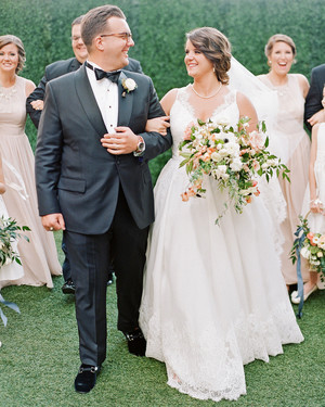 A Garden Wedding in South Carolina with Plenty of School Pride