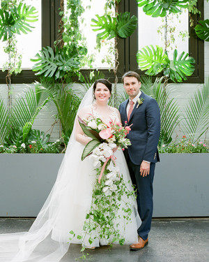 One Couple's Lush, Modern Afternoon Wedding in Brooklyn