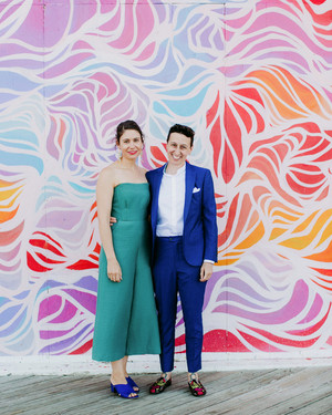 One Couple's Bold, Colorful Wedding at the New Jersey Shore
