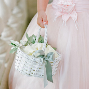 julia mauro wedding flower girl holding basket