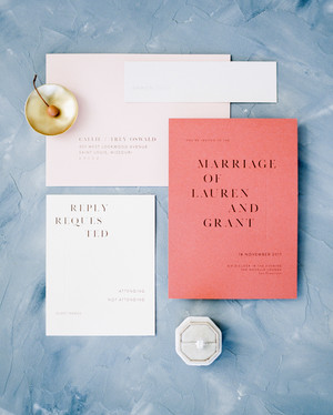 Contemporary Couples Will Love These Wedding Invitations Featuring Negative Space