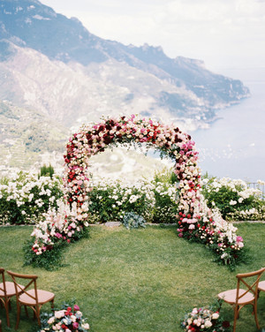 This Couple Invited 18 Guests to Italy's Amalfi Coast for a Garden Wedding