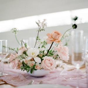 brittany peter wedding centerpiece pink flowers