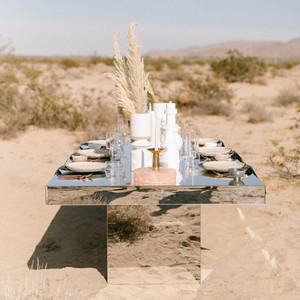 desert wedding inspired tablescape