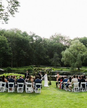A Modern, Intimate Wedding at the Groom's Family Home in Connecticut