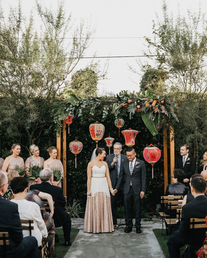 This Couple's Multi-Cultural Wedding in Downtown Los Angeles Was Packed with Surprises