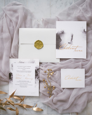 Gorgeous Wedding Invitations with Wax Seals