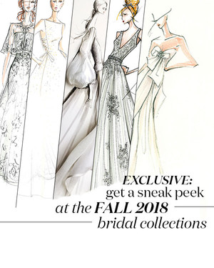 Exclusive: Get a First Look at the Fall 2018 Bridal Collections!