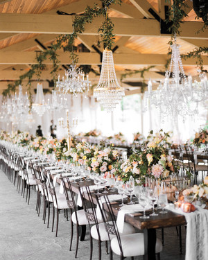 18 creative ways to set your reception tables martha stewart weddings 47 hanging wedding dcor ideas junglespirit Images