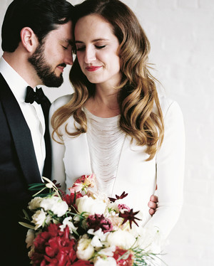 A New Year's Eve Wedding in Kentucky with a Burgundy Color Palette