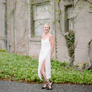 wedding reception dresses spaghetti strap tea length dress with slit