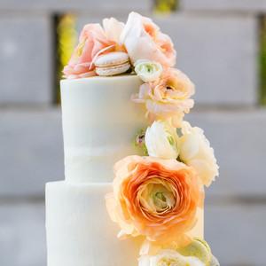 sugar cloth bridal shower cake