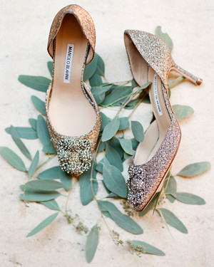 7d7fab559fee Sparkly Wedding Shoes for the Bride Who Wants to Make a Statement