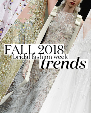 10 Wedding Dress Trends from Fall 2018 Bridal Fashion Week