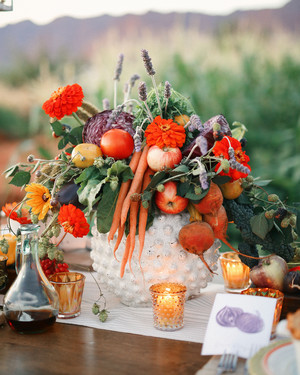 22 Wedding Centerpieces Bursting with Fruits and Vegetables