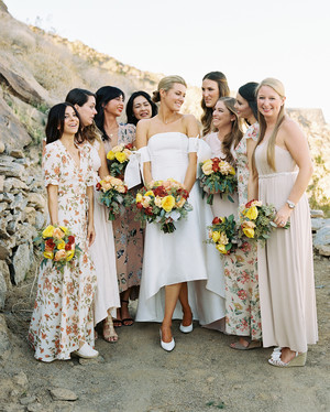 Wedding bridal party hairstyles images
