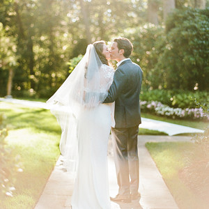 melissa michael bride groom kiss