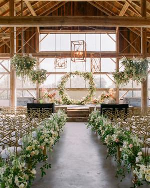 One Couple's Elegant, Flower-Filled Barn Wedding in Texas