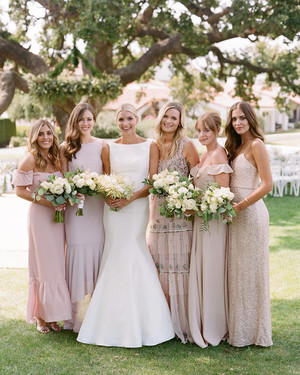 The Prettiest Pink Bridesmaids' Dresses for Spring