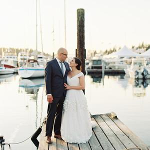 Martha stewart weddings wedding planning ideas inspiration cassandra jason wedding couple on dock junglespirit Images