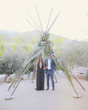 Christen and Billy's Bohemian Wedding Reception in Palm Springs