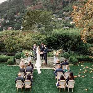 gillian marcus wedding ceremony couple