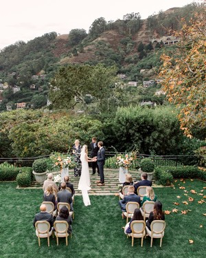 An Intimate Backyard Wedding in Sausalito, California