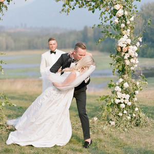 kaitlin jeremy wedding ceremony kiss