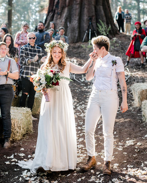 This Camp-Themed California Wedding Took Place Beneath a 2,000-Year-Old Tree