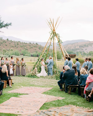 This Couple Mixed Western Style with Bohemian Accents for Their Wedding in Aspen, Colorado