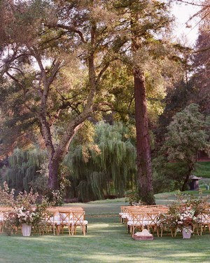 A Stunning Wine Country Wedding with Unexpected Pops of Indigo