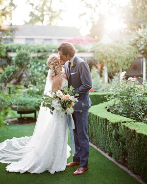A Fairytale Garden Wedding in the Bride's Grandma's Backyard