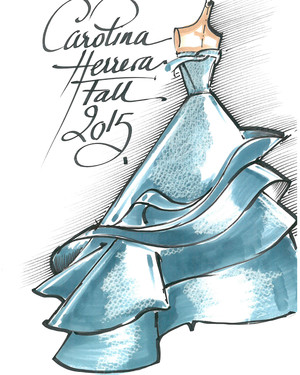 From Sketch to Reality: A Look at Sofia Vergara's Fall 2015 Cover Shoot Dresses