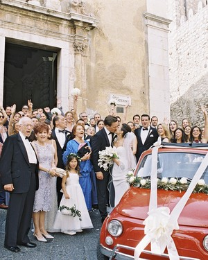 This Classic Wedding in Italy Began With An Unforgettable Entrance